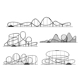 Roller coaster silhouettes Rollercoaster or