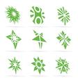 abstract green symbol set vector image