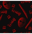 Friday the 13th seamless pattern Dotwork vector image