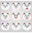 happy panda set vector image