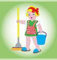 lovely young assistant vector image