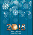 Abstract beauty christmas and 2018 new year vector image