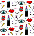 abstract eye and cosmetics pattern vector image