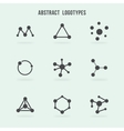 Abstract hipster logo set vector image