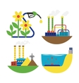 Alternative energy factory vector image