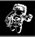 astronaut on space background - elements of this vector image