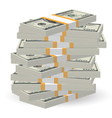 Banknotes stack vector image vector image