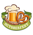 bavarian octoberfest icon cartoon style vector image