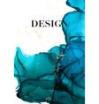blue navy gold luxury design watercolor dark vector image
