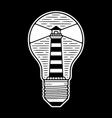 bulb in lighthouse vector image vector image