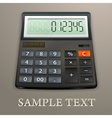 Calculator on brown vector image vector image