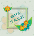 card spring sale vector image