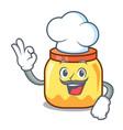 chef cream jar character cartoon vector image