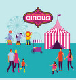 circus fun fair vector image