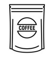 coffee package icon outline style vector image
