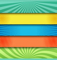 comic colorful bright horizontal banners vector image vector image