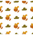 cute seamless pattern with squirrels in nuts vector image