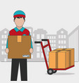 delivery and shipping design vector image vector image