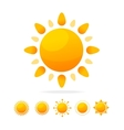 Different Sun Icon Set vector image