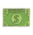 Dollar bill money icon image vector image