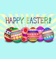 easter background with egg and ray vector image vector image