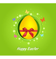 Easter yellow egg gift card vector image vector image