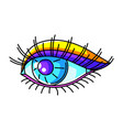eye colorful cute cartoon icon vector image