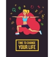 Fitness typographic poster Time to change your vector image vector image