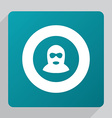 flat offender icon vector image
