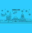france nice winter holidays skyline merry vector image vector image
