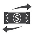 funds transfer icon vector image