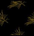 golden fir branches decor seamless pattern vector image vector image