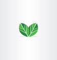 green leaves logo eco icon vector image vector image