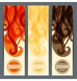 Hairstyle vertical banners vector image vector image