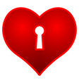 heart and keyhole vector image vector image