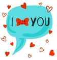 I love you card with bow-knot vector image vector image