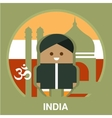India Resident on National Background vector image vector image