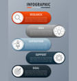 infographicfor modern business concept with 5 opti vector image vector image