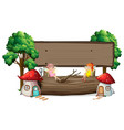 isolated fairy tale signboard vector image vector image