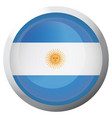 isolated flag of argentina vector image vector image