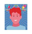 kid boy face smiling vector image vector image