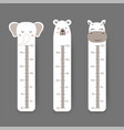 kids height chart cute wall meter with funny vector image vector image