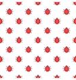 Ladybug pattern cartoon style vector image