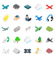 landing icons set isometric style vector image vector image