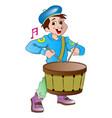 little drummer boy vector image