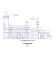 luxemburg city skyline vector image vector image