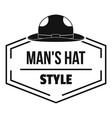 man hat logo simple black style vector image vector image