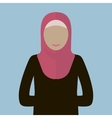 Muslim Woman Icon vector image vector image