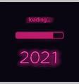 neon progress bar new year vector image