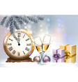 new year holiday background with a gift boxes vector image